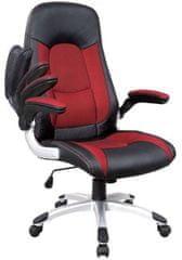 Hyle pisarniški stol K-8327, črn/rdeč