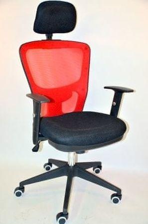 Hyle pisarniški stol HY-7006C, črn/rdeč