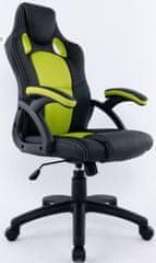 Hyle pisarniški stol HY-9157, zelen/črn