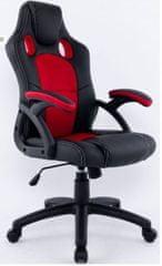 Hyle pisarniški stol HY-9157, rdeč/črn