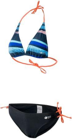 Aqua Wave dvodelne kopalke Faridi, Wmns Blades Print/Blueberry, črno modre, L