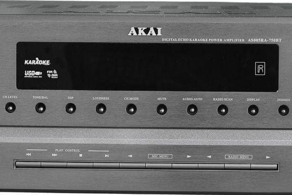 av vevő akai as005ra-750b 5.1 rendszer akai usb bemenet Bluetooth hálózati forgalom 7 dsp karaoke mód 2 mic bemenet 2 mikrofon számára digitális echo effektus