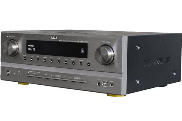 av receiver akai as005ra-750b 375 w-os teljesítmény dts ac-3 nagyszerű hangzásért 5.1 rendszerrel am fm tuner digitális hangolás