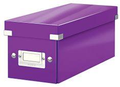 Škatuľa CLICK & STORE WOW na CD, purpurová