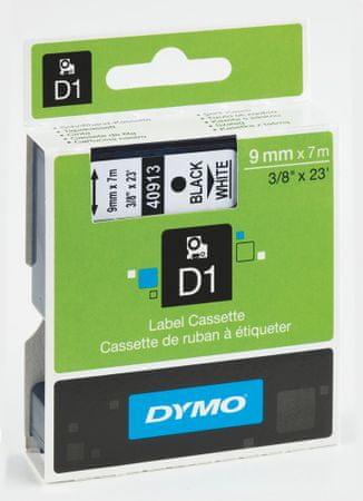 Páska DYMO D1 9mm/7m černá na bílé