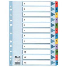 Esselte Rozdružovač Mylar A4 číselný 1-12