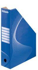 Stojan na časopisy kartónový modrý