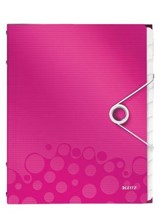 Leitz Rozdružovací kniha WOW 12ti dílná metalicky růžová