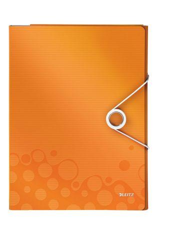 Leitz Organizér na dokumenty WOW metalicky oranžový