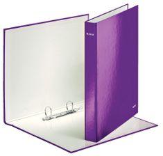 Leitz Pořadač kroužkový 2xD kroužky WOW purpurový