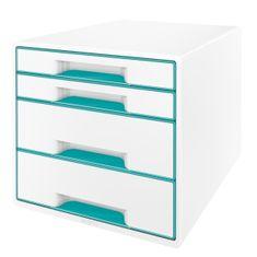 Leitz Box zásuvkový WOW 4 zásuvky ledově modrý