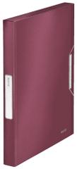 Leitz Box na spisy Style granátově červený