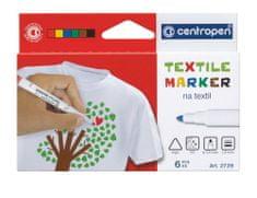 Centropen Značkovač 2739 Textil sada 6 farieb