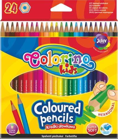 Pastelky šestihranné Colorino 24 barev