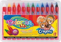 Barvy obličejové Colorino v tužce 12 barev