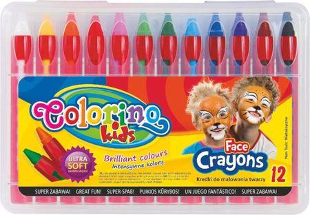Farby tvárovej Colorino v ceruzke 12 farieb