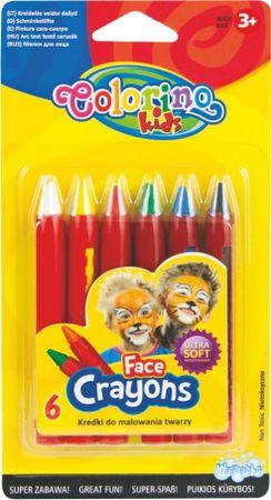 Farby tvárovej Colorino v ceruzke 6 farieb