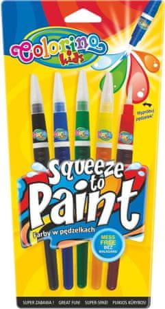 Farby sa štetcovým hrotom Colorino 5 farieb