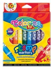 Popisovač Colorino s pečiatkou 10 farieb