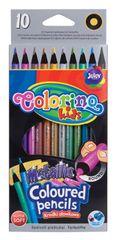 Colorino Pastelky okrúhle 10 farieb metalické