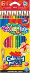 Colorino Pastelky trojhranné 12 + 1 farba (zlatá + strieborná)