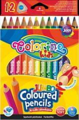 Colorino Pastelky trojhranné JUMBO 12 farieb