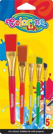 Štetce s plastovými držadlami Colorino JUMBO sada 5 kusov