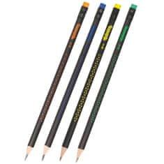 Colorino Ceruzka grafitová trojhranná HB motív hviezd mix farieb