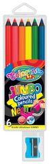 Pastelky kulaté Colorino JUMBO 6 barev neonové