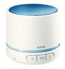 LEITZ Prenosný mini Bluetooth reproduktor s mikrofónom WOW modrý / biely