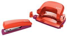 LEITZ Set mini zošívačky a dierovačky Urban Chic červená