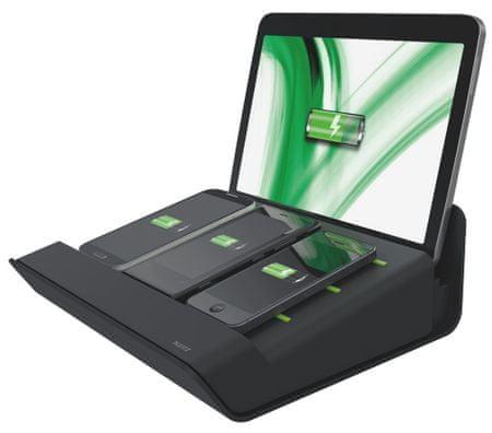 Leitz Multifunkční nabíječka XL Complete pro 1 tablet a 3 chytré telefony černá