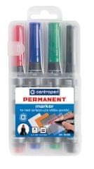 Centropen Značkovač 8566 Permanent sada 4 farieb v etui