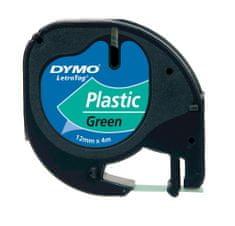 PLUS Páska DYMO LETRA Tag plastová 12mm x 4m, zelená