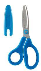 PLUS Nožnice detské s krytom 14,5 cm modré