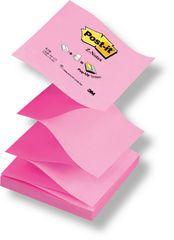 """Post-It Blok samolepicí  76 x 76 typ """"Z"""" pastelová růžová/neonová růžová"""