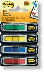 Post-It Záložky samolepiace šípky 11,9 x 43,2 mm / 4 x 24 ks