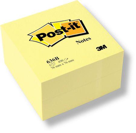 Post-It Blok samolepicí  76 x 76 mm žlutý 450 listů