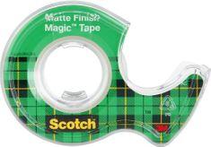 Scotch Lepicí páska bankovní 19 mm x 7,5 m s odvíječem MAGIC