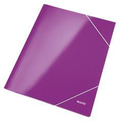 LEITZ Mapa odkladacia s 3 chlopňami WOW A4 purpurová