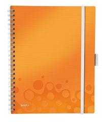 Leitz Blok mobilní WOW A4 čtverečkovaný metalicky oranžový