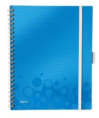 Leitz Blok mobilní WOW A4 čtverečkovaný metalicky modrý