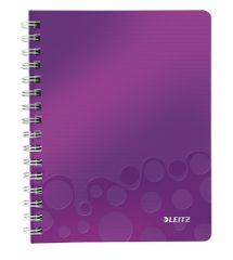 Leitz Blok na psaní WOW A5 čtverečkovaný purpurový