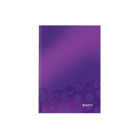LEITZ Zápisník WOW A5 štvorčekový purpurový