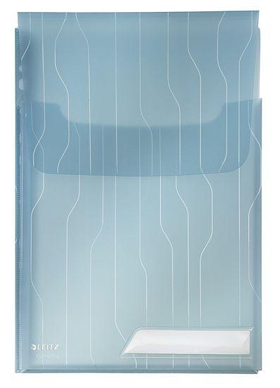 Leitz Obal CombiFile závěsný s rozšiř. kapacitou a chlopní / 3 ks modrý