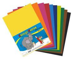 Kartón kresliaci farebný mix A4 180g / 12x5 hárkov