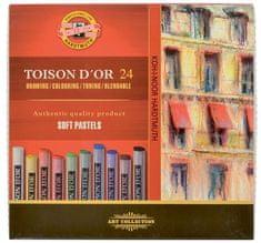 Koh-i-Noor Křída suchá (prašná) umělecká kulatá 8514/24 Toison d´Or v papír. krabičce