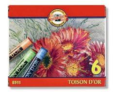 KOH-I-NOOR Krieda suchá školské okrúhla 8511/6 Toison d'Or v papier. krabičke