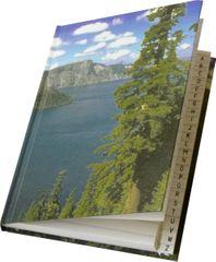 Záznamová kniha s registrom A4 linajková, 96 hárkov