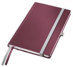 Leitz Zápisník Style A5 tvrdé desky čtverečkovaný granátově červený